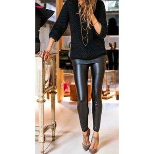 Black Vegan Leather High Waist Legging S/M L/XL